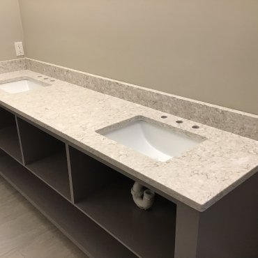 Quartz double vanity top
