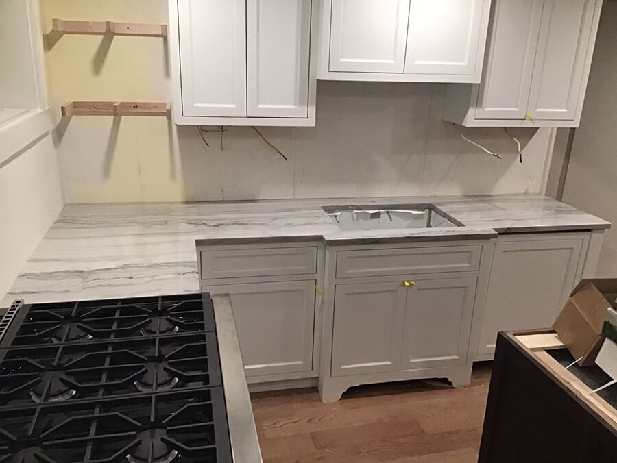 Boston MA Quartzite Kitchen Countertop Installation
