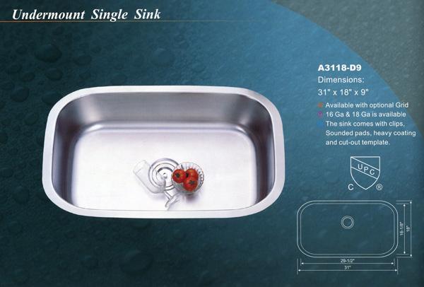 single sink a3118d9