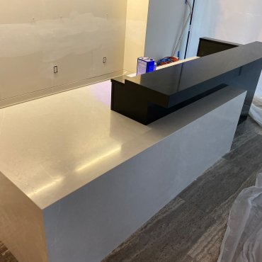 Quartz combination at reception desk